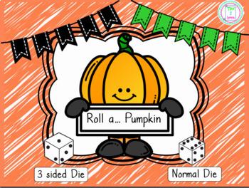 Roll a Pumpkin Drawing Activity