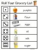 Roll a Pumpkin Pie & Roll a Grocery List