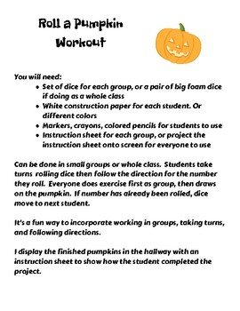 Roll a Pumpkin Workout