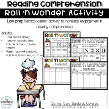 Roll a Question Comprehension Activity
