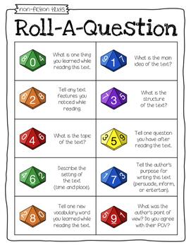 Roll-a-Question FREEBIE