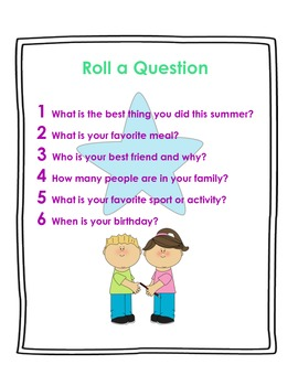 Roll a Question: Ice Breaker!