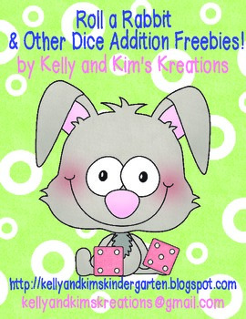 Roll a Rabbit & Other Dice Addition Freebies!
