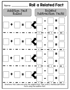 Roll a Related Fact Game
