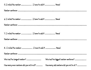 Roll a Repeated Addition Sentence