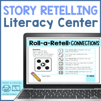 Reading Retelling Comprehension Questions (Roll-a-Retell)