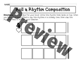 Roll a Rhythm: A Game for Composing and Reading Rhythms