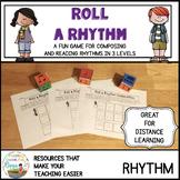Roll a Rhythm Game for Composing and Reading Rhythms Dista