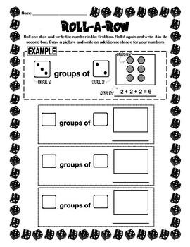 Roll-a-Row for Repeated Addition