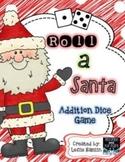 Roll a Santa Addition Dice Game