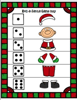 Roll a Santa Math Game