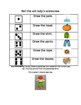 Roll a Scarecrow Fall Activity