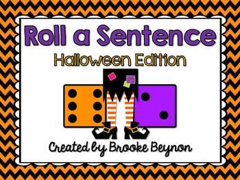 Roll a Sentence - Halloween Edition