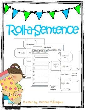 Roll a Sentence ~ [Sentence building activity]
