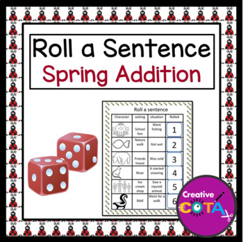 Roll a Sentence/Story: Spring Addition