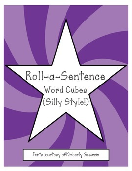 Roll-a-Sentence Word Cubes (Silly Style!)