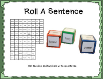 Roll a sentence dice game by therapy fun zone teachers pay teachers roll a sentence dice game ccuart Image collections