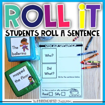Roll a Sentence for the YEAR- Sentence Practice for Kindergarten and First Grade