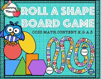 Roll a Shape Board Game (Math Center)