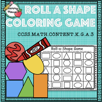 Roll-a-Shape Coloring Game (Math Center)