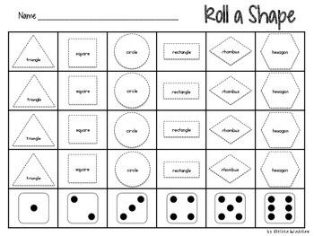 Roll a Shape {FREEBIE}