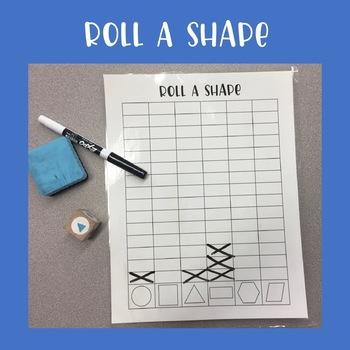 Roll a Shape Math Game