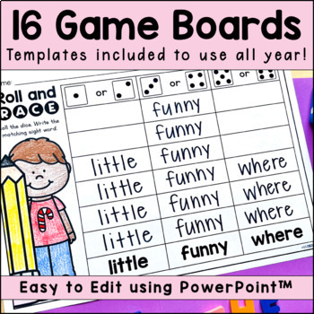 Roll a Sight Word: All Year Long!