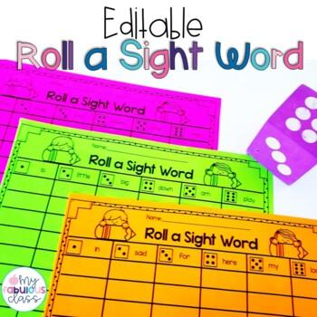 Roll a Sight Word-Editable