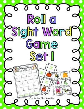 Roll a Sight Word Set 1