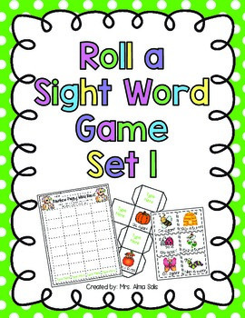 Roll a Sight Word Game Set 1