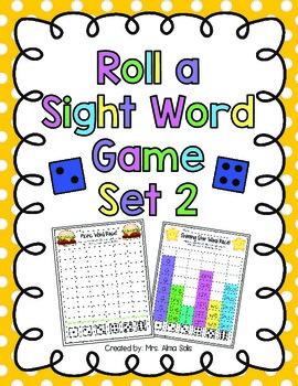 Roll a Sight Word Set 2