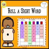 Roll a Sight Word Game for Dolch Third Grade Sight Words
