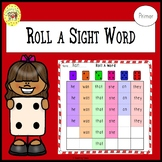 Roll a Sight Word Game for Primer Dolch Sight Words