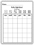 Roll a Sight Word- Get the Egg!