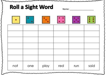Roll a Sight Word (Pre-Primer)