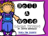 Roll a Sight Word template