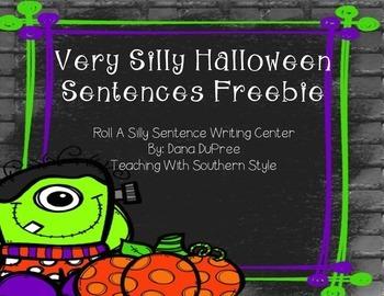 Roll a Silly Halloween Sentence