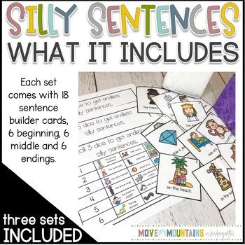 Roll a Silly Sentence- BUNDLE
