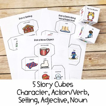 Silly Winter Story | Differentiated Writing Prompt | Special Education Resource