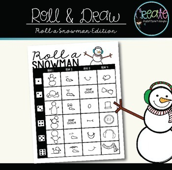 Roll a Snowman - Dice game