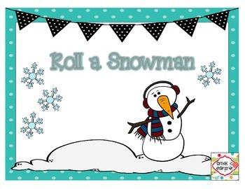 Roll a Snowman ~ Freebie