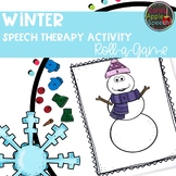 Winter Speech Therapy Activity: Roll A Game