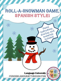 Spanish Vocabulary Game: Roll-a-Snowman!