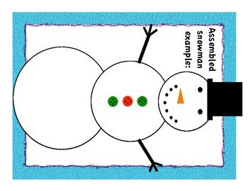 Roll a Snowman Math Center