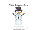 """Roll"" a Snowman dice game"