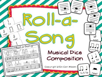 Roll-a-Song Musical Dice Composition: Half Note, Half Rest//Do, Re, Mi, Sol, La
