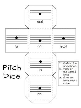 Roll-a-Song Musical Dice Composition: Ta,Ti-ti,Rest//Sol, Mi, La