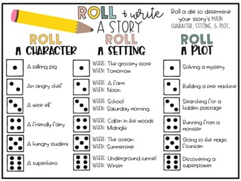 Roll a Story Writing Activity