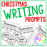 CHRISTMAS WRITING PROMPTS // ROLL A STORY // LITERACY FOCUS