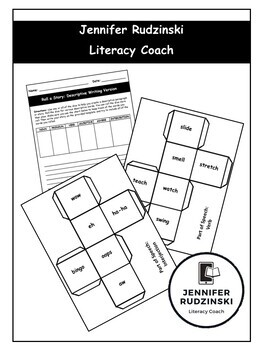 Roll a Story Dice Game - Descriptive Writing Version